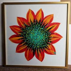 Floated Canvas Flower