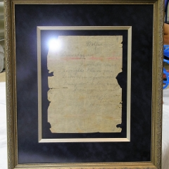 Antique Certificate